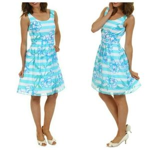 Lilly Pulitzer Posey Dress Shorely Blue Floral
